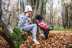 Winter Wonders. (Andy Bracey -) Tags: bracey andybracey andybraceyphotography nikon d3s woods woodland girl daughter dog lunar cockapoo puppy winter winterwonderland