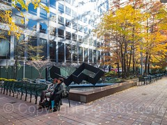 POPS087: Through Block Plaza, 1166 Sixth Avenue, Central Midtown, Manhattan, New York City (jag9889) Tags: 1166sixthavenue usa artwork manhattan throwback newyork outdoor 2016 tonysmith throughblockconnection sculpture 20161119 midtownnorth midtown newyorkcity black aluminum art jag9889 publicplaza pops ny nyc popos privatelyownedpublicspace publicspace skulptur unitedstates unitedstatesofamerica us
