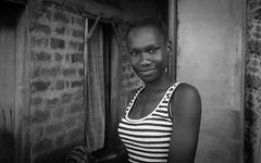 Katwe IX (gunnisal) Tags: africa portrait bw girl face smile blackandwhite monochrome uganda katwe kampala gunnisal street