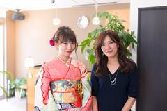 Young Kimono girl with her beauty specialist (Apricot Cafe) Tags: img4943 20s asianethnicity japan japaneseethnicity kimono sigma35mmf14dghsmart tokyo beautysalon ceremony enjoy hairsalon happiness peaceful twopeople woman youngadult minatoku tkyto jp
