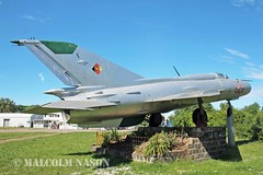 MIG-21SPS 829 EAST GERMAN AIR FORCE (shanairpic) Tags: preserved museum merseburg jetfighter military mig eastgermanairforce