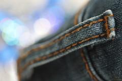 Jean ... ( Explored ) Macro mobdays : Stitch (yadhavan.c) Tags: macromondays ckphotography macro macromonday canon focus bokeh weaving jeans stitch stitching