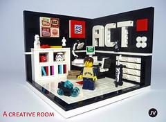 A Creative Room (-JV-) Tags: lego creative moc minifig minifigures room toy afol act acreativeteam vignette stormtrooper star wars tron guitar