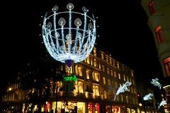 London Lights 2016 (Julie A1) Tags: g7x canon bondstreet london lights christmas fun westend street dark night light walk cold peacock feathers shop shopping colour colourful amazing city world building fenwicks