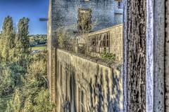 Du balcon (sebastienloppin) Tags: 1855 60d abandoned abandonnee ardennes canon cereales champagne champagneardenne hdr lightroom marne minoterie photomatix ruin ruine ruines ruins urbex explorationurbaine urbanexploration decay factory