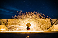 Theater (Evan's Life Through The Lens) Tags: camera sony a7rii lens glass 2470mm f28 canon zoom wide telephoto long exposure night light bright dark sparks steel wool fire amazing beautiful vibrant color orange yellow blue green autumn cold 2016
