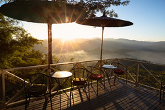 The cafe on the hill (Patrick Foto ;)) Tags: background balcony cafe chair coffee concept copyspace decorative fog forest furniture garden greece green guy high hill holiday home horizontal landscape leisure light mist morning mountain natural nature outdoor outside park relax seat shop sun sunny sunset sunshine table terrace thailand tourism travel tree vacation view warm tambonpangmu changwatmaehongson th