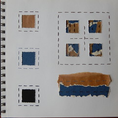 (Landanna) Tags: embroidery embroideryonpaper broderi broderippapir borduren bordurenoppapier runningstitch square paperstudy paperart