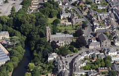 St Peter's Church aerial photo (John D F) Tags: tiverton church castle riverexe devon aerial aerialphotography aerialimage aerialphotograph aerialimagesuk aerialview britainfromabove britainfromtheair droneview