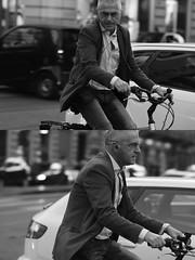 [La Mia Città][Pedala] (Urca) Tags: milano italia 2016 bicicletta pedalare ciclista ritrattostradale portrait dittico bike bicycle nikondigitale biancoenero blackandwhite bn bw 907145