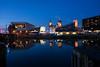 DSCF7185 (ThrottleUK) Tags: liverpool museum liver water night lights reflection three 3 graces buildings fuji fujifilm