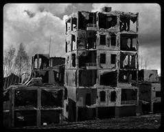 After the war (Jörn Pachl) Tags: aviary concordefilter olympusep1 ruins war digitalart magiccity monochrome urban dark deviantart gimp
