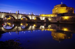 Capodanno a Roma!! .... New Year's Eve in Rome!! (Marco_964) Tags: roma rome river fiume tiber tevere castelsantangelo ponte bridge blu sky riflesso reflection pentax