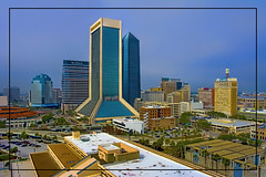 View of downtown Jacksonville, Florida, USA (Jorge Marco Molina) Tags: jacksonville duvalcounty florida historical city cityscape urban downtown skyline centralflorida centralbusinessdistrict skyscraper building architecture commercialproperty cosmopolitan metro metropolitan metropolis sunshinestate realestate commercialoffice modernism postmodern modernarchitecture