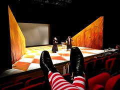 Leonce Und Lena - backstage (campacientanni) Tags: socks director direction costume turin torino tpe leonceelena leonceundlena lena und leonce play actor buchner büchner audience public seats shoes feet rehearsals campa simone simonecampa stage performance theatre