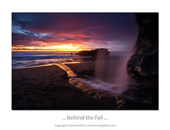 ... behind the Fall ... (liewwk - www.liewwkphoto.com) Tags: sunset fall nature water indonesia photography lot filter lee nd cpl kuta tanahlot haida tanah leefilter photohunter rgnd liewwk liewwknature