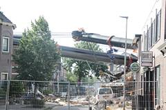 kraancrash Julianabrug-7278 (leoval283) Tags: bridge crash cranes pontoons ponton alphenaandenrijn alphen julianabrug hijskranen brugdek