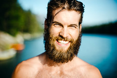 Smile (DEARTH !) Tags: ca shirtless canada man male beard outside nationalpark outdoor lifestyle alberta banff wilderness alpinelake sup active dearth johnsonlake standuppaddleboarding improvementdistrictno9 davidpostman