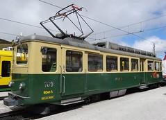 WAB Electric motor unit type BDhe 4/4 N109. (Franky De Witte - Ferroequinologist) Tags: de eisenbahn railway estrada chemin fer spoorwegen ferrocarril ferro ferrovia
