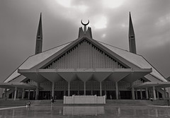 Faisal Mosque Symmetry (alizahoorphotography) Tags: pakistan lines architecture vanishingpoint geometry mosque symmetry punjab islamabad rawalpindi