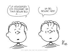 Gas di scarico (Peanuts Reloaded) Tags: volkswagen emissionitruccate inquinamento linusvanpelt peanuts peanutsreloaded comics drawing snoopyfriends snoopyandfriends linus