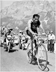 "1952 TDF Fausto Coppi ""Il Campionissimo"" (Sallanches 1964) Tags: tourdefrance yellowjersey giroditalia mountainstage faustocoppi campionissimo italiancyclists legendsoftourdefrance bicycleheroes worldchampionroadcycling tourdefrancewinners"