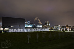 H-D Museum (CJ Schmit) Tags: longexposure nightphotography trees winter urban building wisconsin architecture clouds canon lights lowlight motorcycles harley harleydavidson milwaukee hd mke shutterdrag nocages 2wheels canonef1740mmf40lusm harleymuseum harleydavidsonmuseum canon5dmarkiii cjschmit 5dmarkiii urbanmilwaukee wwwcjschmitcom cjschmitphotography