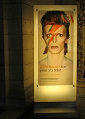 David Bowie, V&A, London, England (Amethinah) Tags: 2013 uk unitedkingdom greatbritain england london albertopolis va victoriaalbert museum david bowie poster lighteningbolt