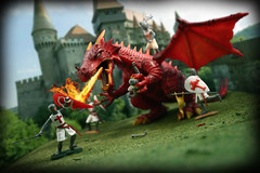 Dragon trouble.... (harrycobra) Tags: gijoe timpo templars dragon vintage toys figures diorama