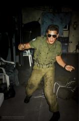 Dancing in the Prefab (Normann Photography) Tags: 1992 427op fntjeneste forsvaret kontigent29 lebanon libanon peacecorps unservice unifil unitednations unitednationsinterimforceinlebanon market peacekeepers