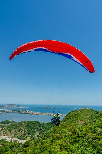 Paraglider at Parque da Cidade