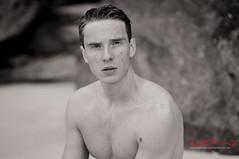 Leo, Modelling Headshot (Kent Johnson) Tags: 1600logoadjsebw9141 nikon 85mm18 sydney modelling modelportfolio malemodelling portfolio portrait headshot