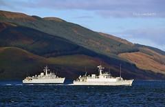 HMS Hurworth & HMS Pembroke (Zak355) Tags: royalnavy minesweeper minehunter hmshurworth hmspembroke ship boat riverclyde shipping bute rothesay isleofbute scotland scottish m39 m107 navy exercise