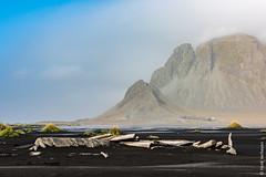 Iceland - Vestrahorn (Henk Verheyen) Tags: ijsland iceland vestrahorn autumn buiten flickr fotoreis herfst landscape landschap nature natuur is black beach rock