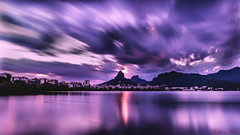Sunset - Lagoa Rodrigo de Freitas (andersonkem) Tags: rio de janeiro brazil lago rj magenta sunset tarde longexposure purple sky
