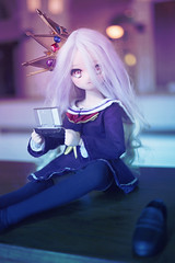 will not know defeat. (lightlybattered) Tags: shiro no game life cosplay mdd mini dollfie dream bjd volks kuuhaku   ddh01