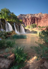 Havasu Creek (photo61guy) Tags: havasucreek havasu havasucanyon havasupai supai arizona az waterfalls waterflow watermotion waterpools morninglight redrocks nature verticallandscape landscape nikond7000 nikon1024mm platinumheartaward