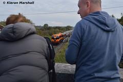 071 at Attymon, 22/10/16 (hurricanemk1c) Tags: 0955connollylimerick rpsi westernexplorer railways railway train trains irish rail irishrail iarnrd ireann iarnrdireann 2016 generalmotors gm emd 071 retrotrain railwaypreservationsocietyofireland attymon