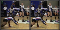 Alvin Yellowjackets at Dickinson Gators, Dickinson, Texas 2016.10.14 (fossilmike) Tags: dickinson texas alvinhighschool dickinsonhighschool volleyball 3d crosseye