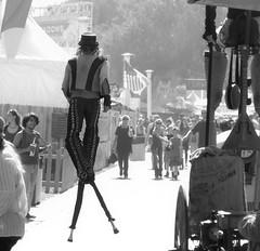 Stickman (Wiley C) Tags: orangecountyfair fairgrounds bw blackwhitephoto costamesa california july2016 stilts