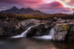 Sligachan, skye. (devlin11) Tags: sligachan skye isleofskye scotland water waterfall cuillin cuillins tranquil exposure highlands landscape sunset nikon light hills