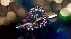 sometimes one isn't enough (johnsinclair8888) Tags: macromondays arrow nikon macro bokeh color art christmas heart bright xmas advent jewelry stone dof blur depthoffield