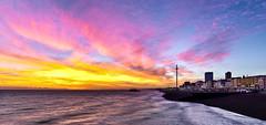 Brighton Afterglow (Solent Poster) Tags: brighton pier east sussex 2016 west sunset sunrise landscape seascape promenade pentax 1685mm afterglow k3ii