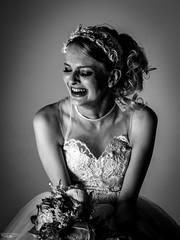 Broken Bride (Laith Stevens Photography) Tags: bride broken upset grey portrait studio exposure bw black whit monochrome wedding jilted crying cry hurting olympus olympusinspired olympusomd olly 1240mmf28pro australia ebony model modelling beautiful haunting