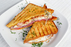 sandwich toast grilled with cheese and tomatoes (, +375 29 3437342!) Tags: sandwich breakfast bread food toasted toast snack cheese plate white melted hot tomato grilled lunch background meal cheddar nobody grill dinner fast closeup nutrition orange fresh american ham vegetable half table pork hungry stuffed striped bacon black english panini toastie stack isolated eat artisan egg coffee horizontal health only macro