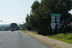 US123wRoad-ToUS76SC28Int85 (formulanone) Tags: southcarolina us123 sc28 28 us76 76 i85 85 sign signs