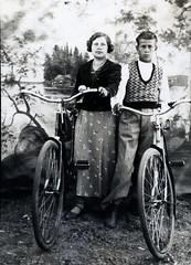 New bikes around 1930 (sakarip) Tags: aunt uncle bikes vintage finland karelia sortavala lskel honkakyl harlu sakarip analog film 1930 blackandwhite bw analogphotography analogue history portrait memory oldfashion oldtime oldphoto studio