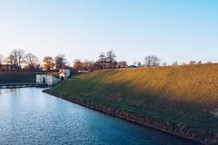 Kastellet corners in the setting sun. (tanjatiziana) Tags: copenhagen denmark kastellet fortress moat ramparts