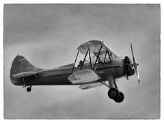 Waco UPF-7 Biplane Ride Over Seattle (cristian_jordache) Tags: plane biplane ride flight fly aviation 1940 bw seattle passion sky washington pacific northwest canon zoom