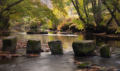 Stepping Stones, River Teign, Dunsford 7 (chris-parker) Tags: river teign devon steps bridge dunsford stepping stones village autumn